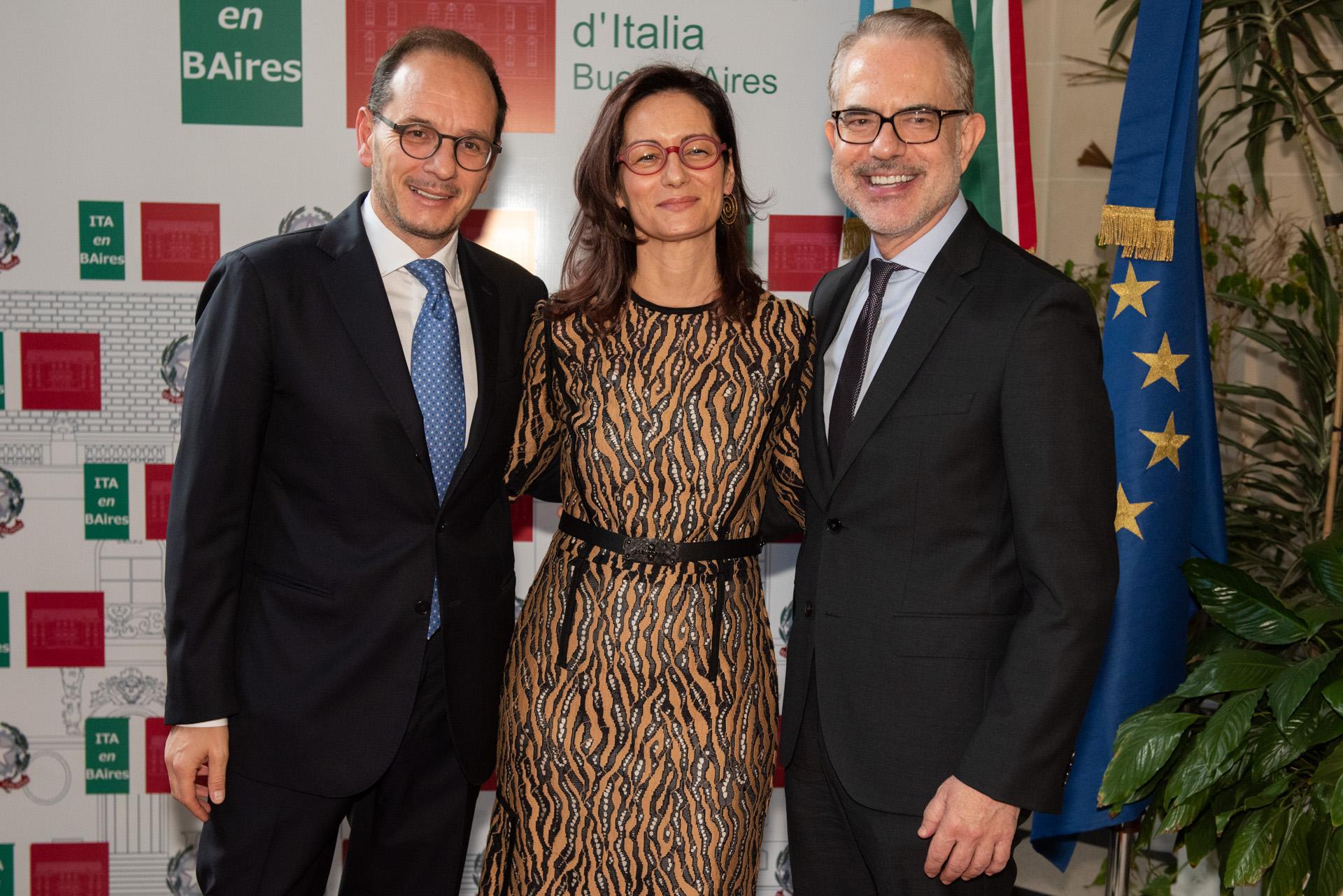 Los embajadores italianos reciben al embajador de Grecia en la Argentina, Dimitris Zevelakis