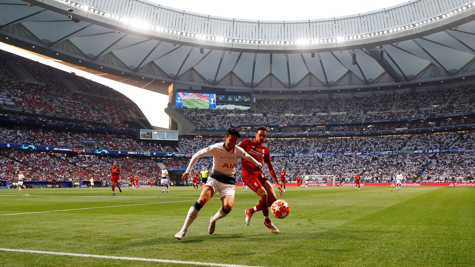 El estadio Wanda Metropolitano albergó la final de la Champions League entre Liverpool y Tottenham (REUTERS)