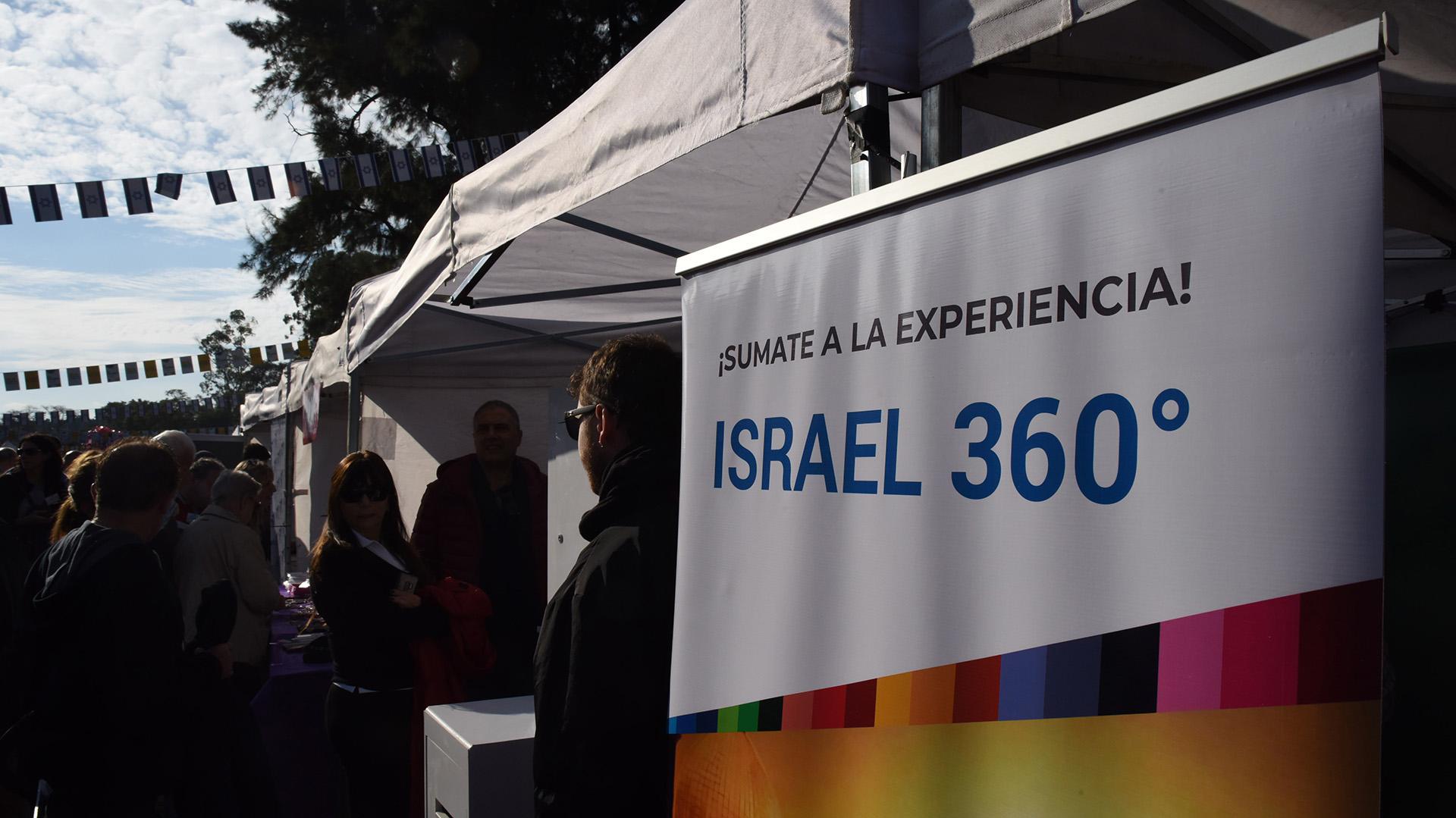 En Buenos Aires Celebra Israel también hubo invitados sorpresas, sorteos, concursos y souvenires, así como un espacio pensado para los más pequeños y secciones de realidad virtual donde promocionar el poderío tecnológico del Estado israelí
