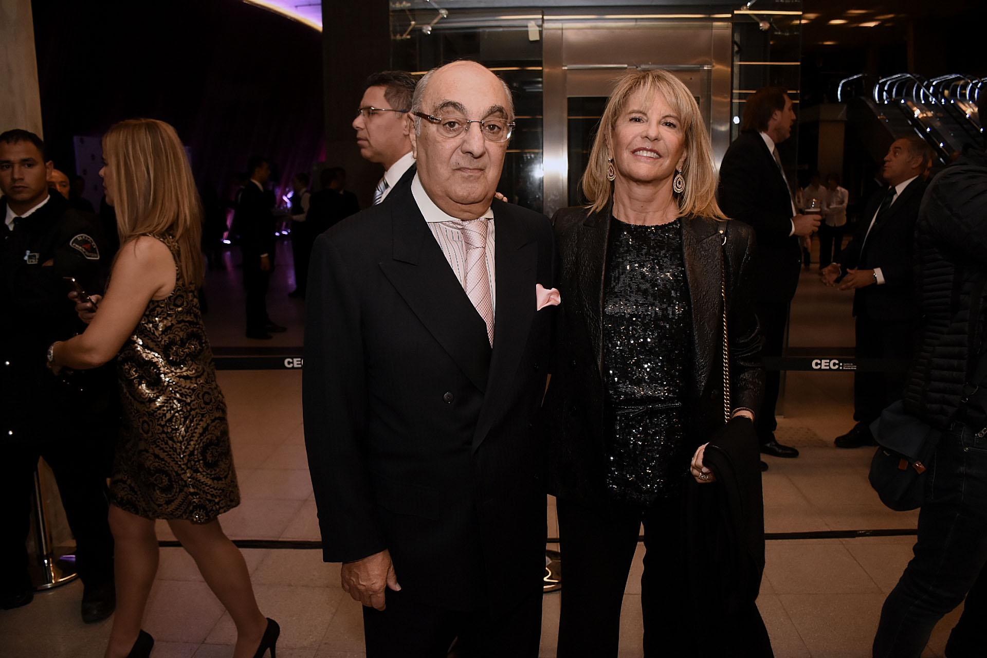 Jorge Aufiero y su mujer, Mónica Balestrini de Aufiero