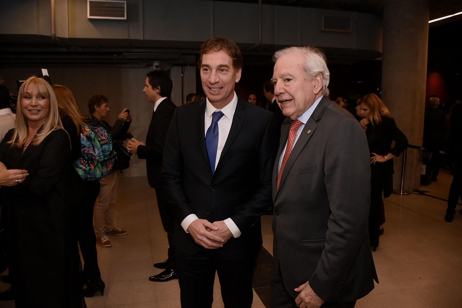 Diego Santilli y el diputado Jorge Enríquez