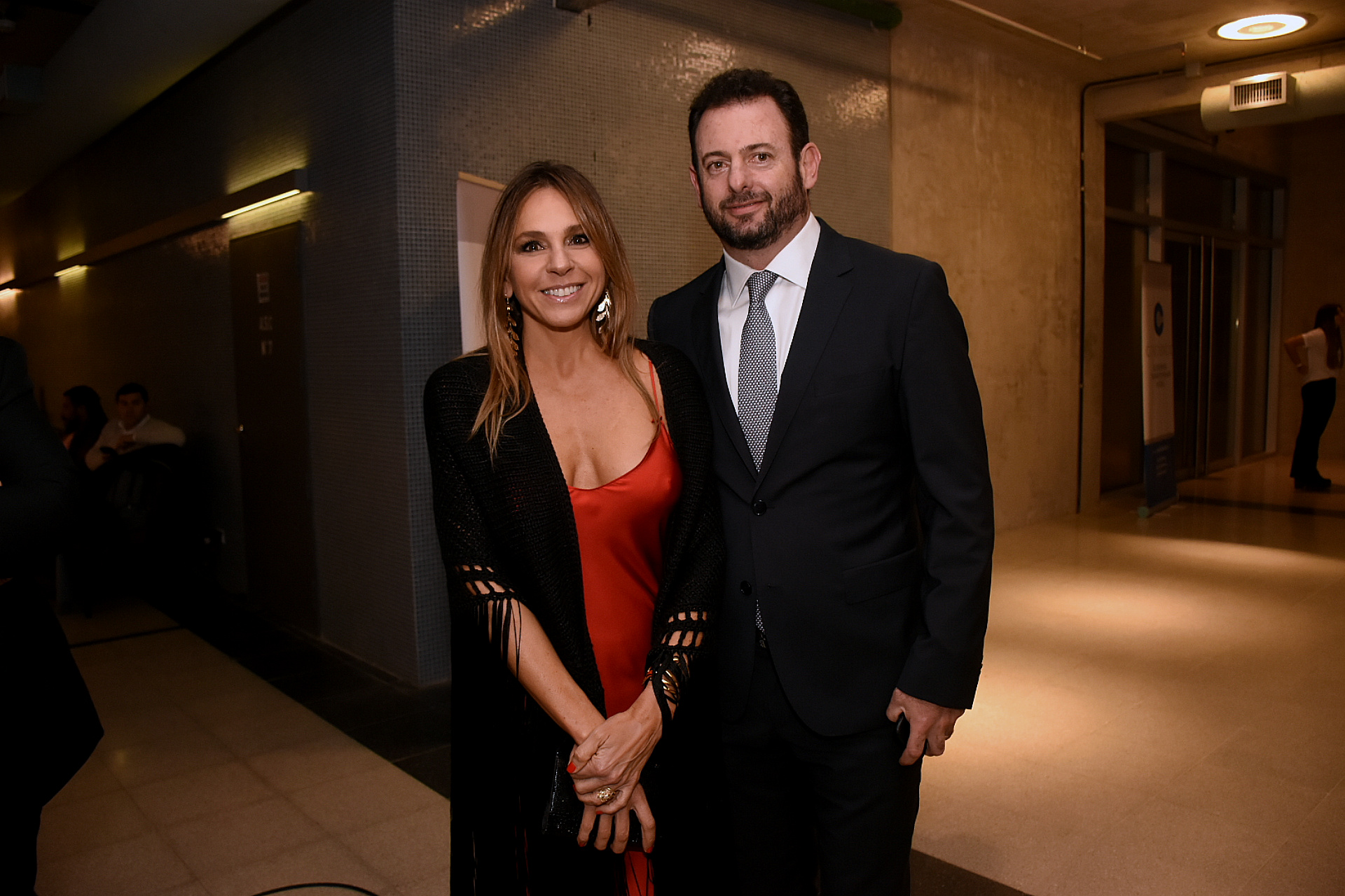 El dirigente industrial José Urtubey y su mujer Soledad