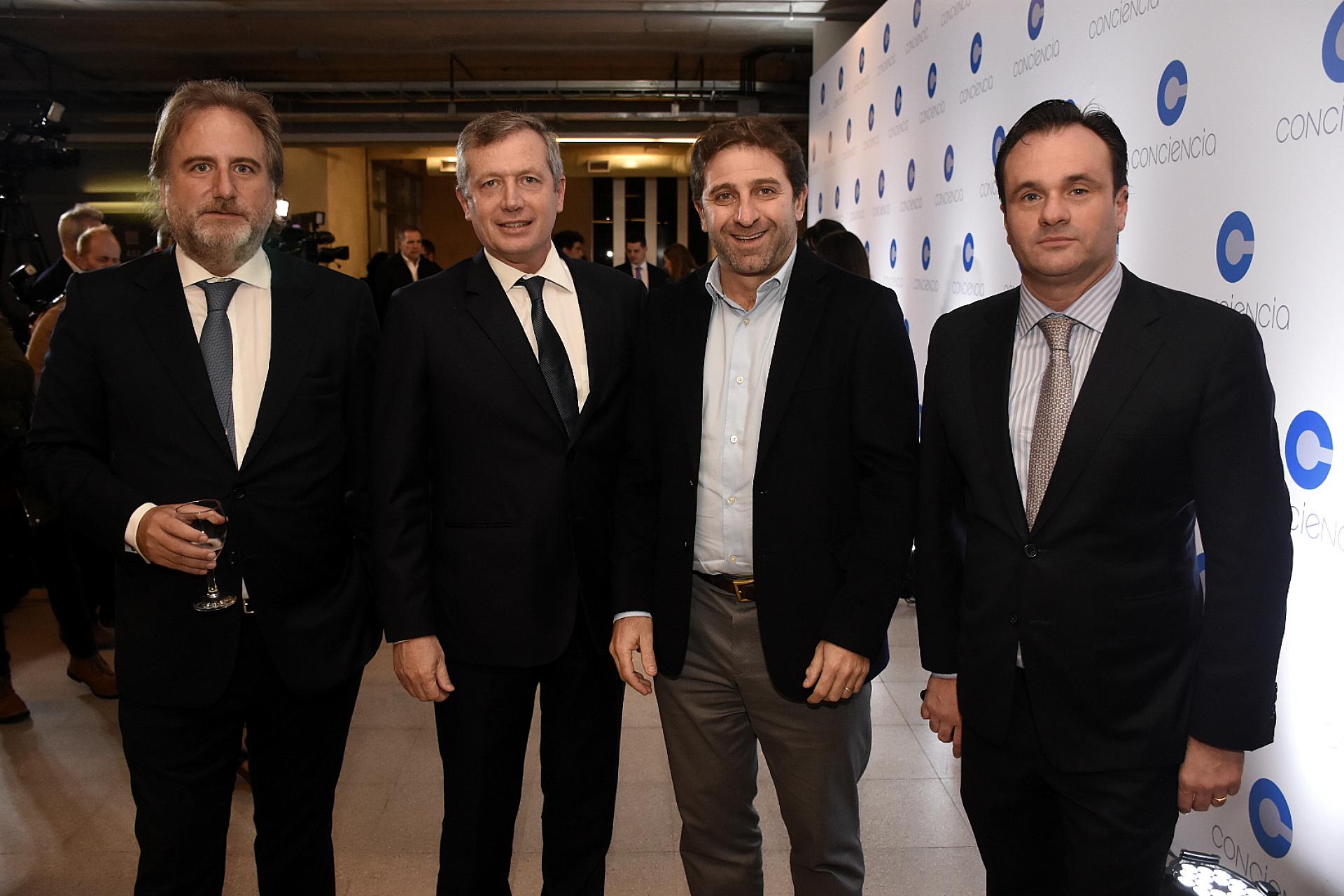 Tato Lanusse, Emilio Monzó, Fernando Straface y Juan Pablo Maglier, director de Relaciones Institucionales de La Rural