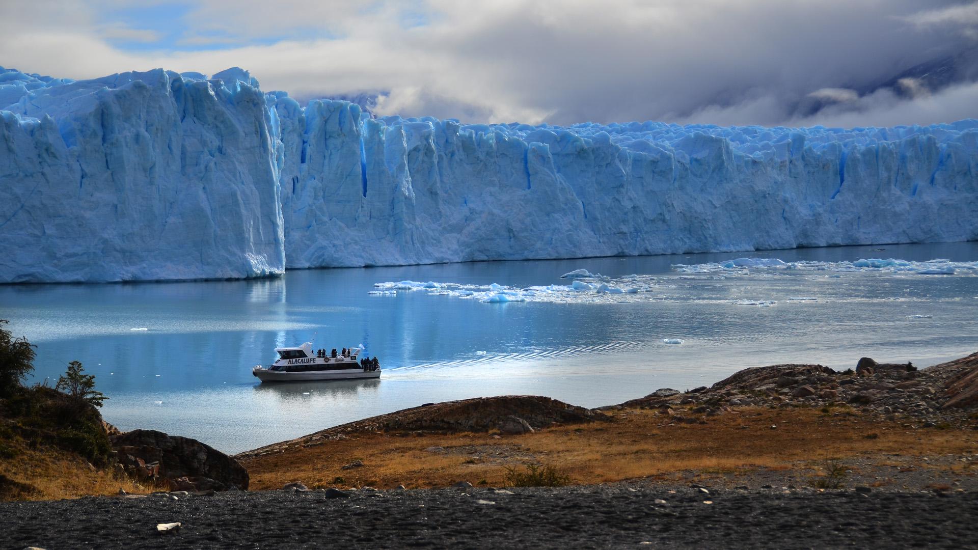 Esta región incluye varios glaciares de descarga, que desprenden témpanos de hielo en los grandes lagos patagónicos, incluyendo el famoso glaciar Perito Moreno. Además son muy frecuentes los glaciares de valle, campos de hielo y glaciares de montaña.