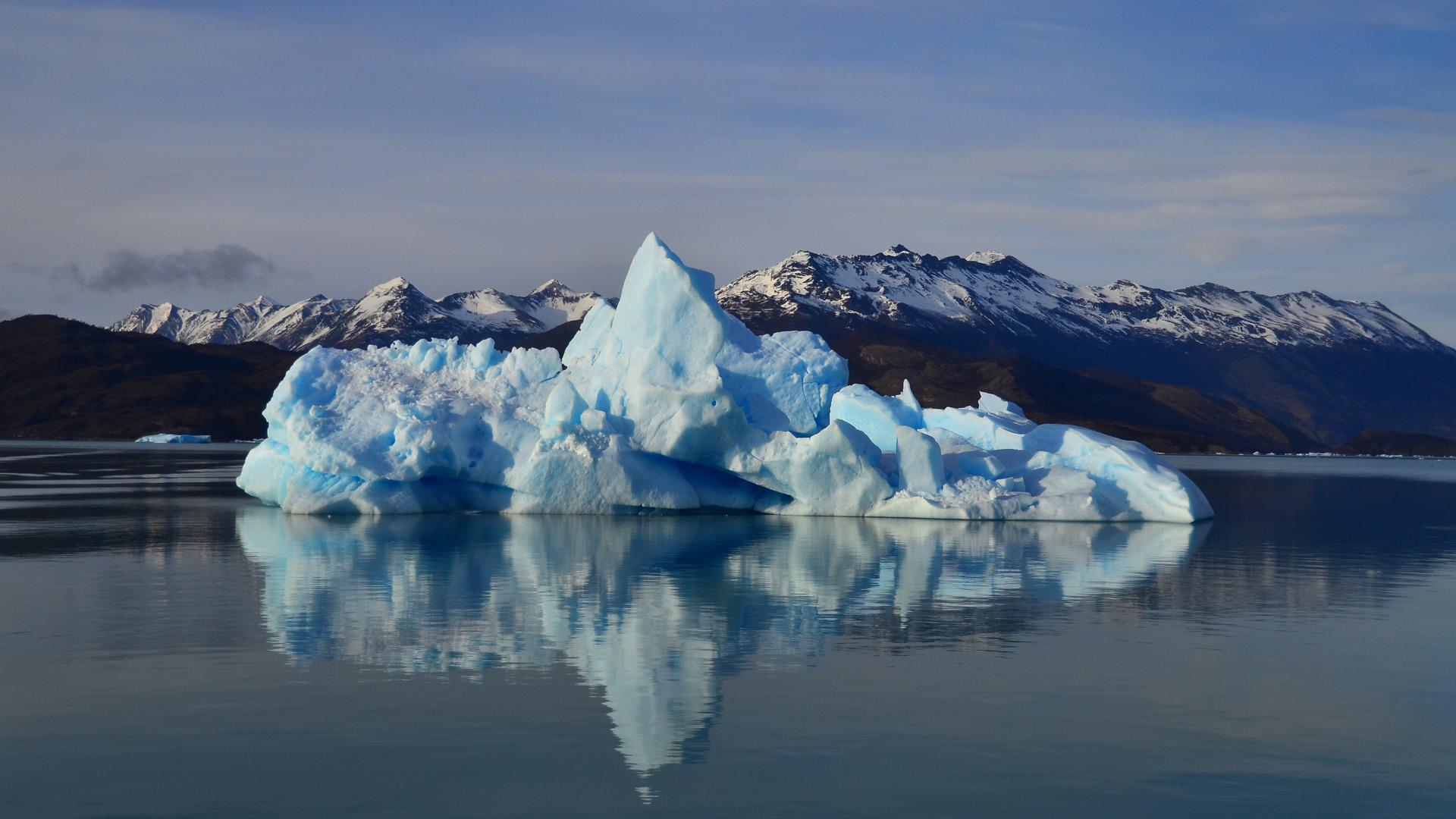 Desde Tierra del Fuego a Jujuy los hielos cubren 5.600 kilómetros cuadrados. (Foto del Parque Nacional Los Glaciares)