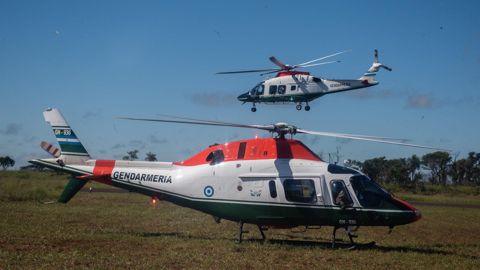 Helicópteros de Gendarmería en Paraguay.