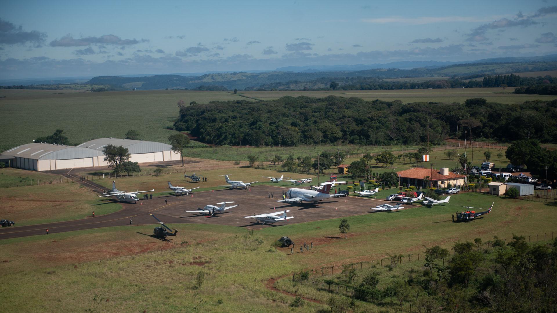 El aeropuerto de Pedro Juan Caballero.