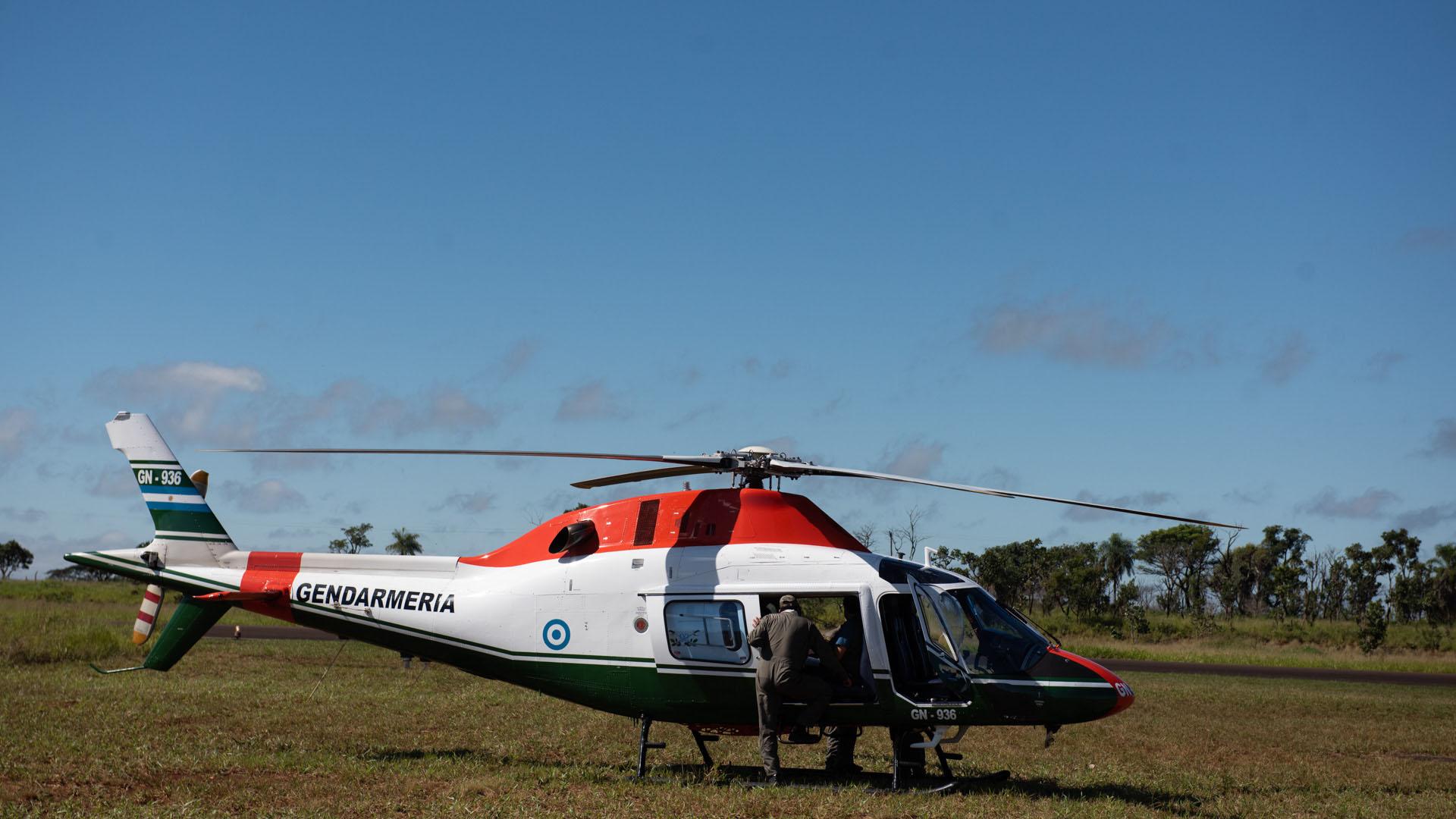 Gendarmería Nacional también participó del operativo.