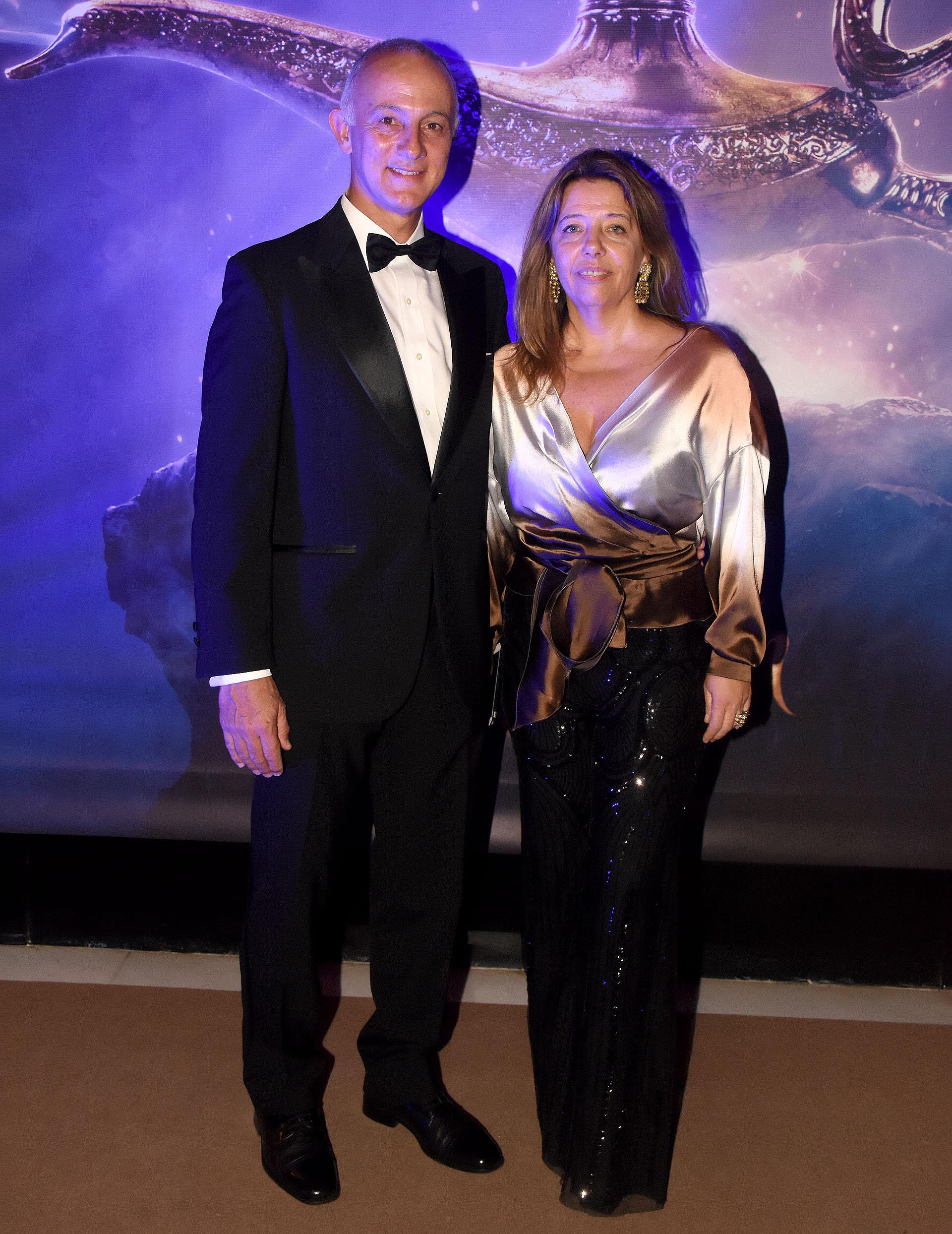 María Claudia Pedrayes con su marido, Carlos Juni
