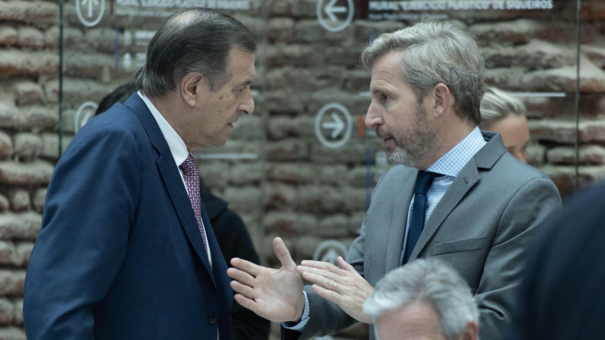El senador Rozas con el ministro del Interior Rogelio Frigerio