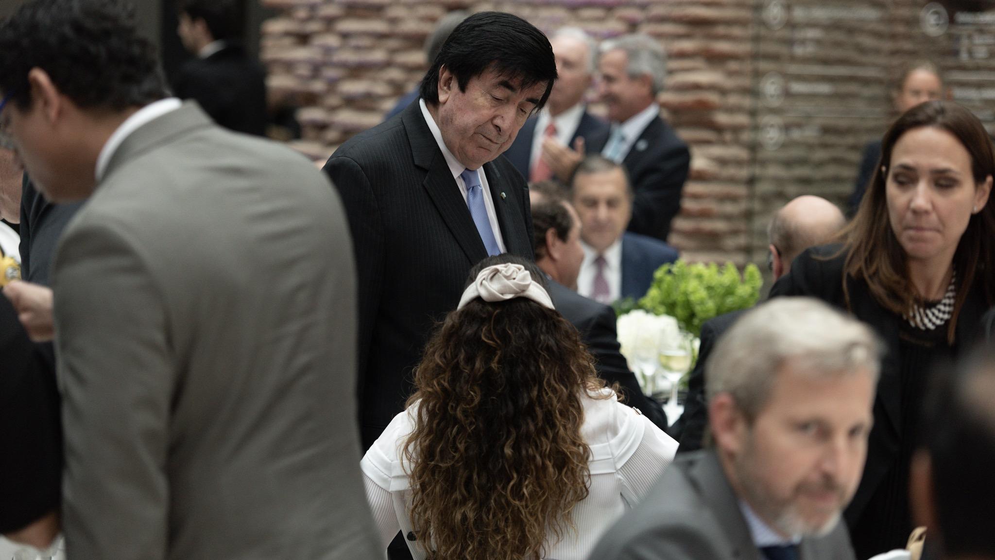El consultor del gobierno Jaime Durán Barba con la vicepresidente Gabriela Michetti