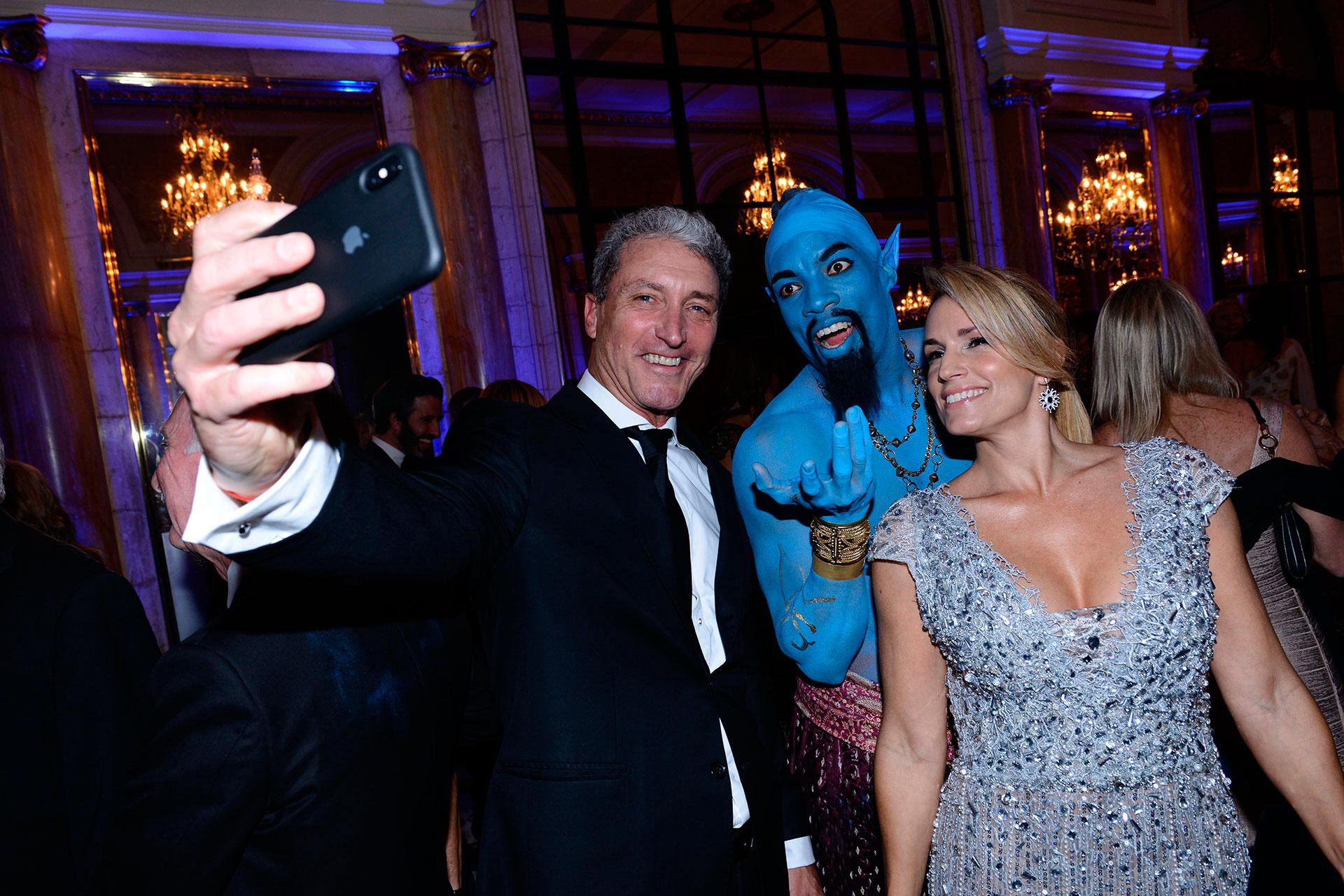 """El presidente de la Fundación DAR, José """"Pepe"""" Scioli, y su mujer Érica Blau."""