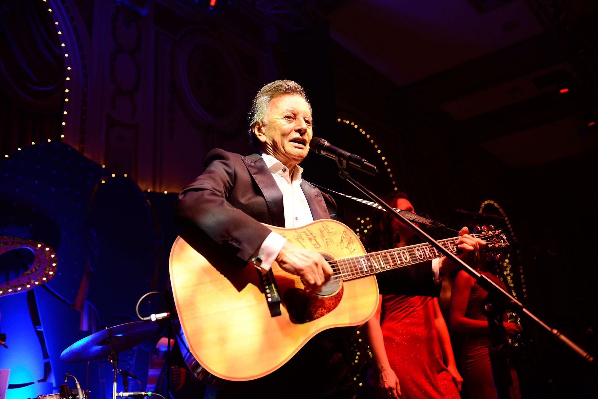Palito Ortega animó la gala con su música.