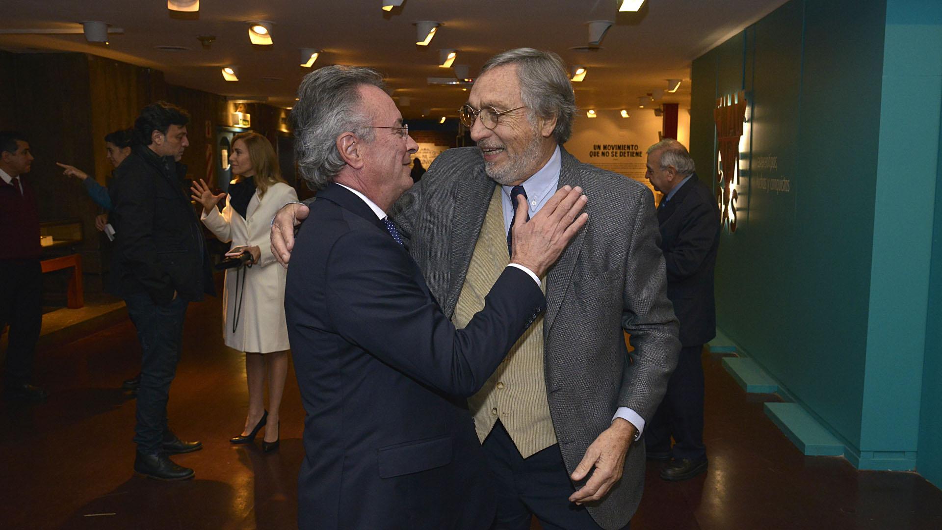 Oscar Martínez y Luis Brandoni