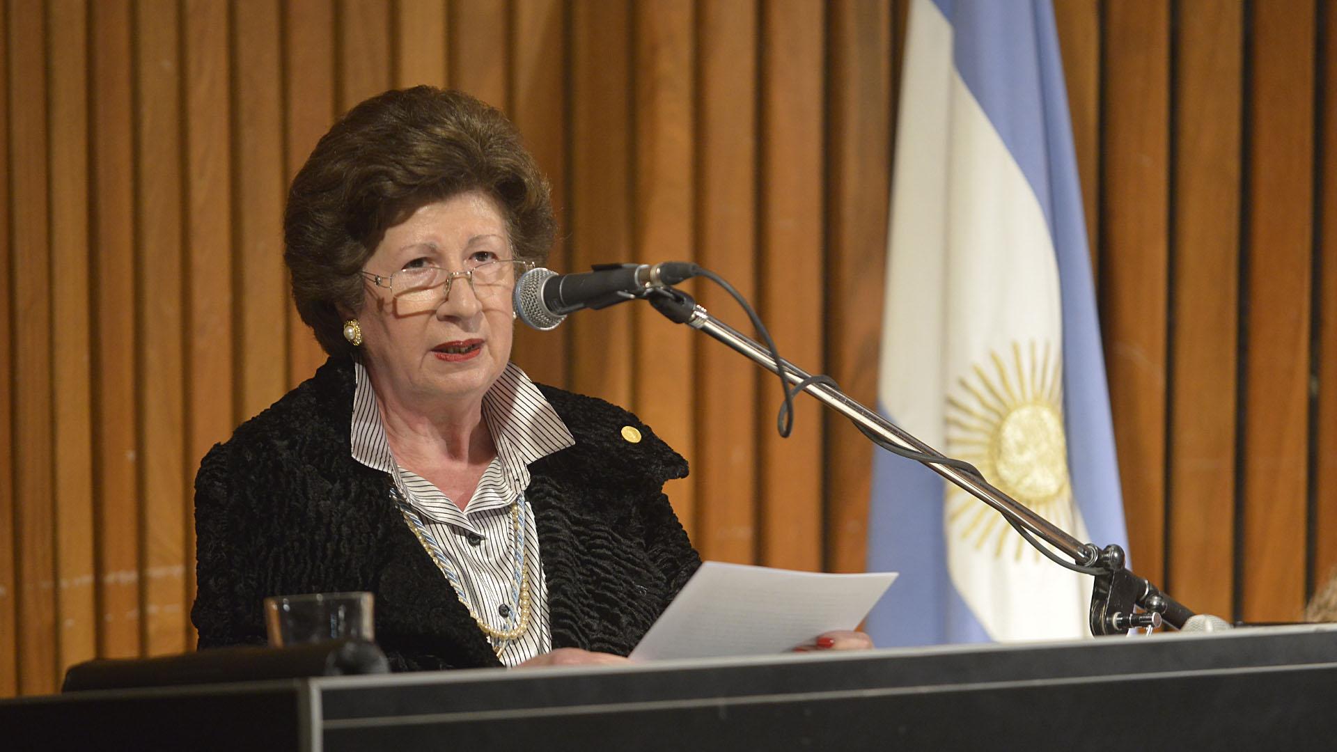 Alicia María Zorrilla, presidente de la Academia Argentina de Letras