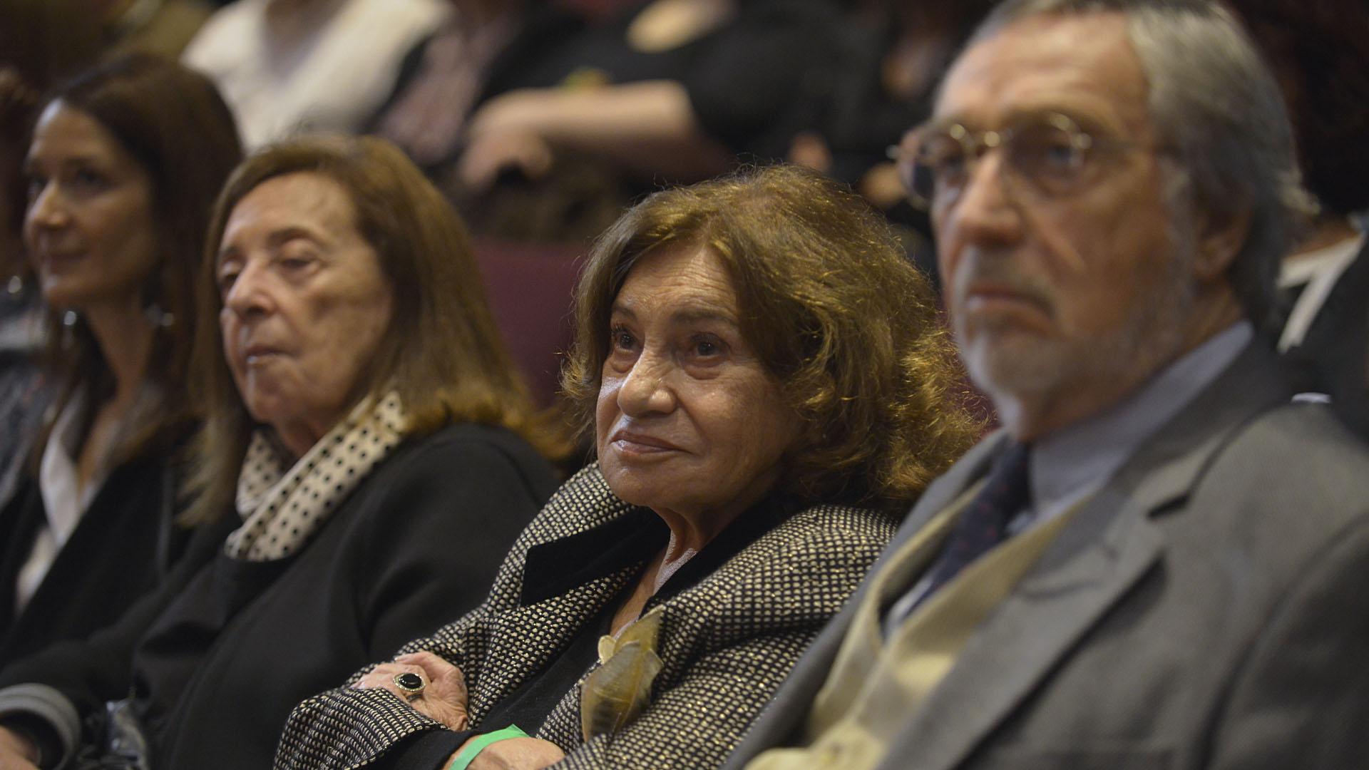 Berta Szpindler de Borensztein y Luis Brandoni