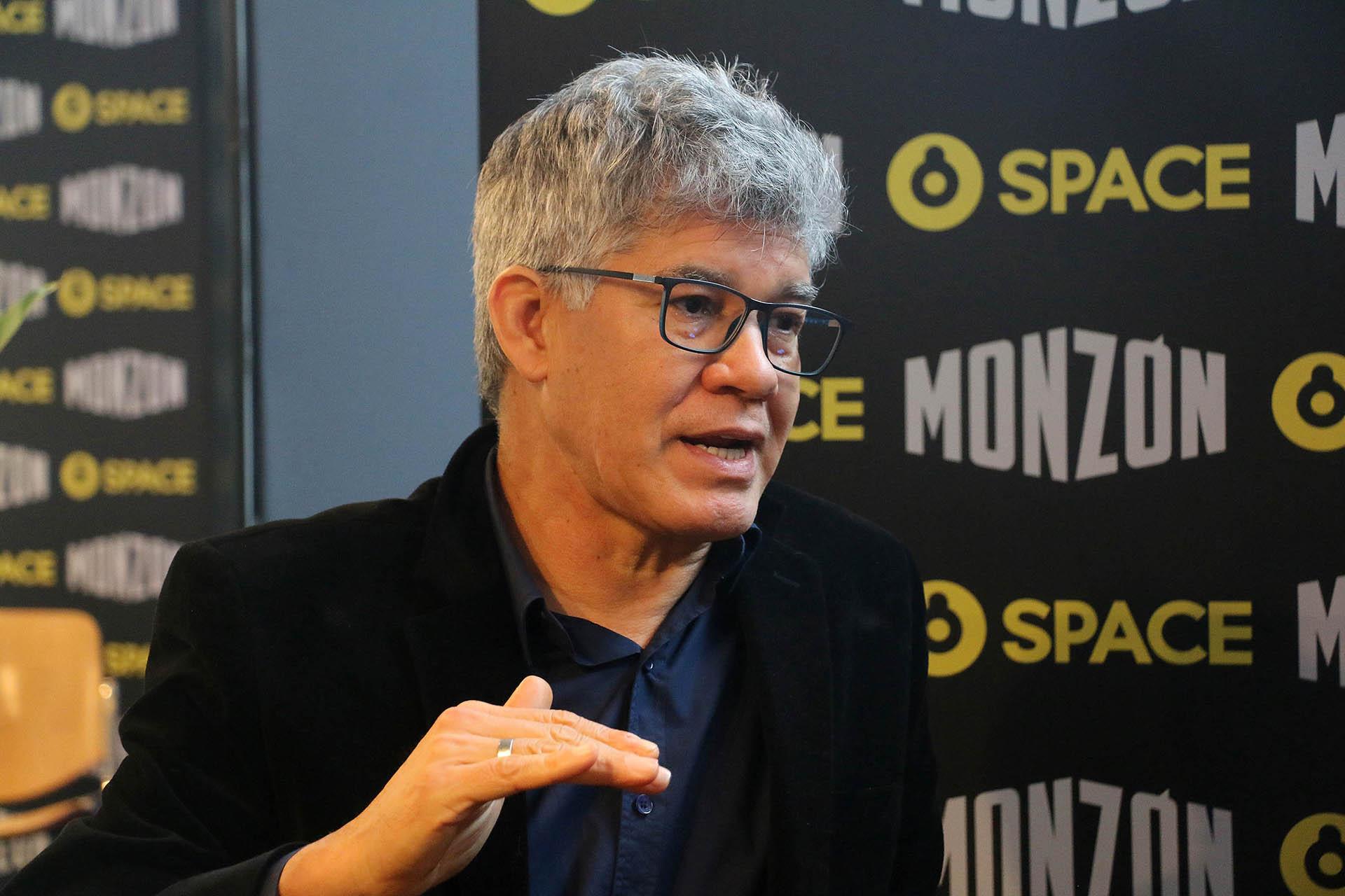 Jorge Román, durante un mano a mano con Teleshow (Fotos: Verónica Guerman/Teleshow)
