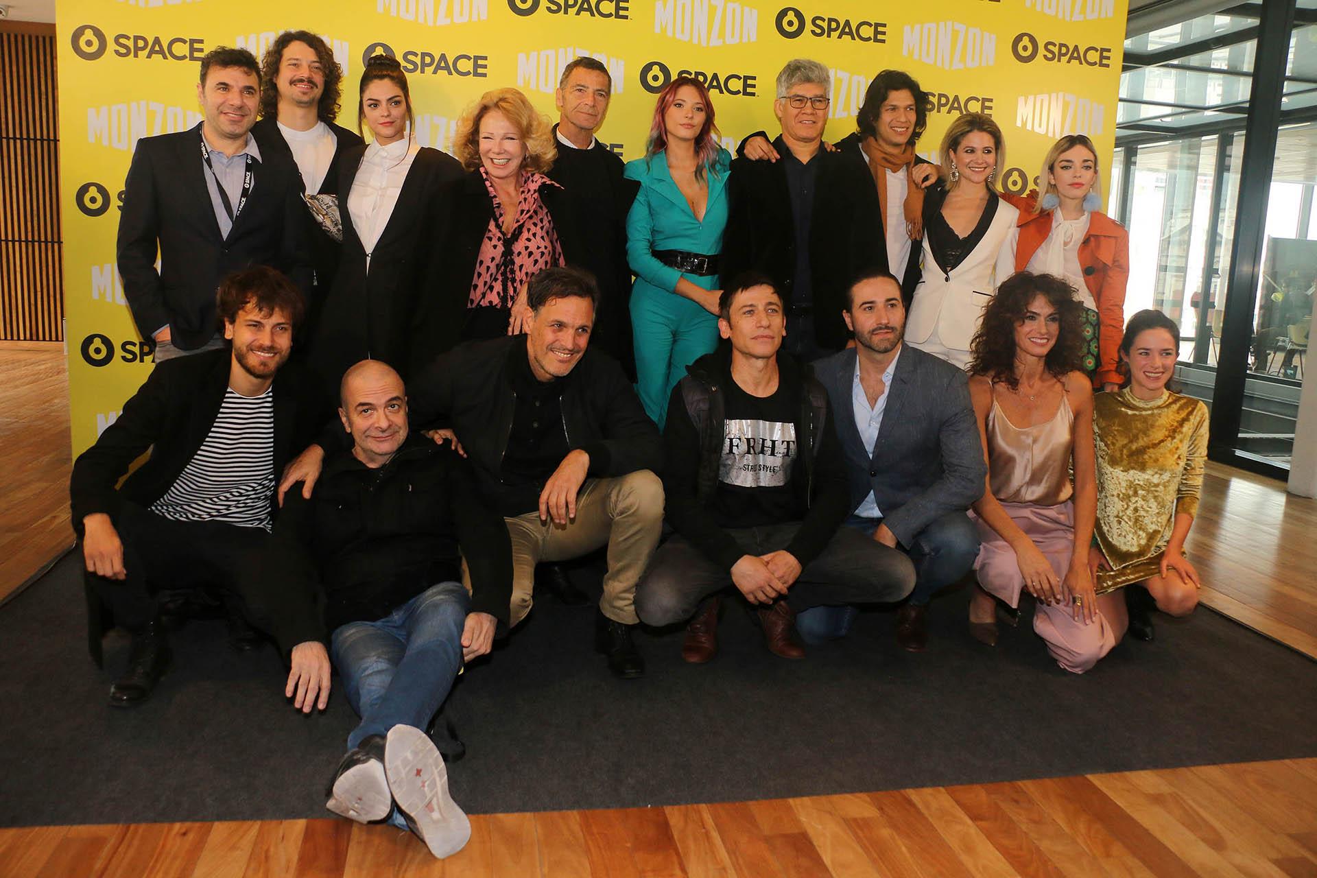 """El elenco de """"Monzón"""" en la presentación de la serie en el CCK (Fotos: Verónica Guerman/Teleshow)"""