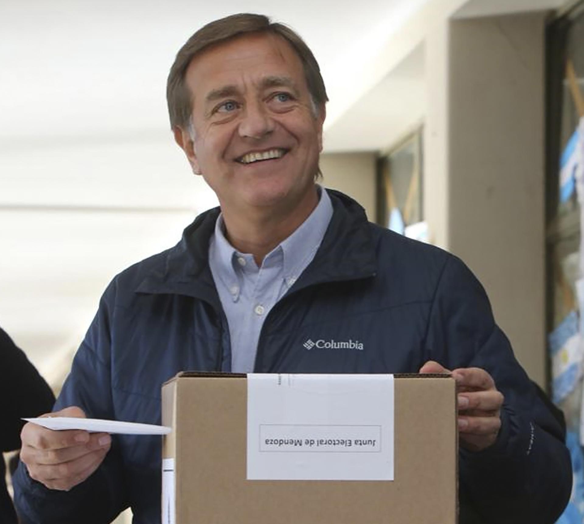 Rodolfo Suarez, precandidato a gobernador de Cambiemos en Mendoza, aliado al actual gobernador Cornejo