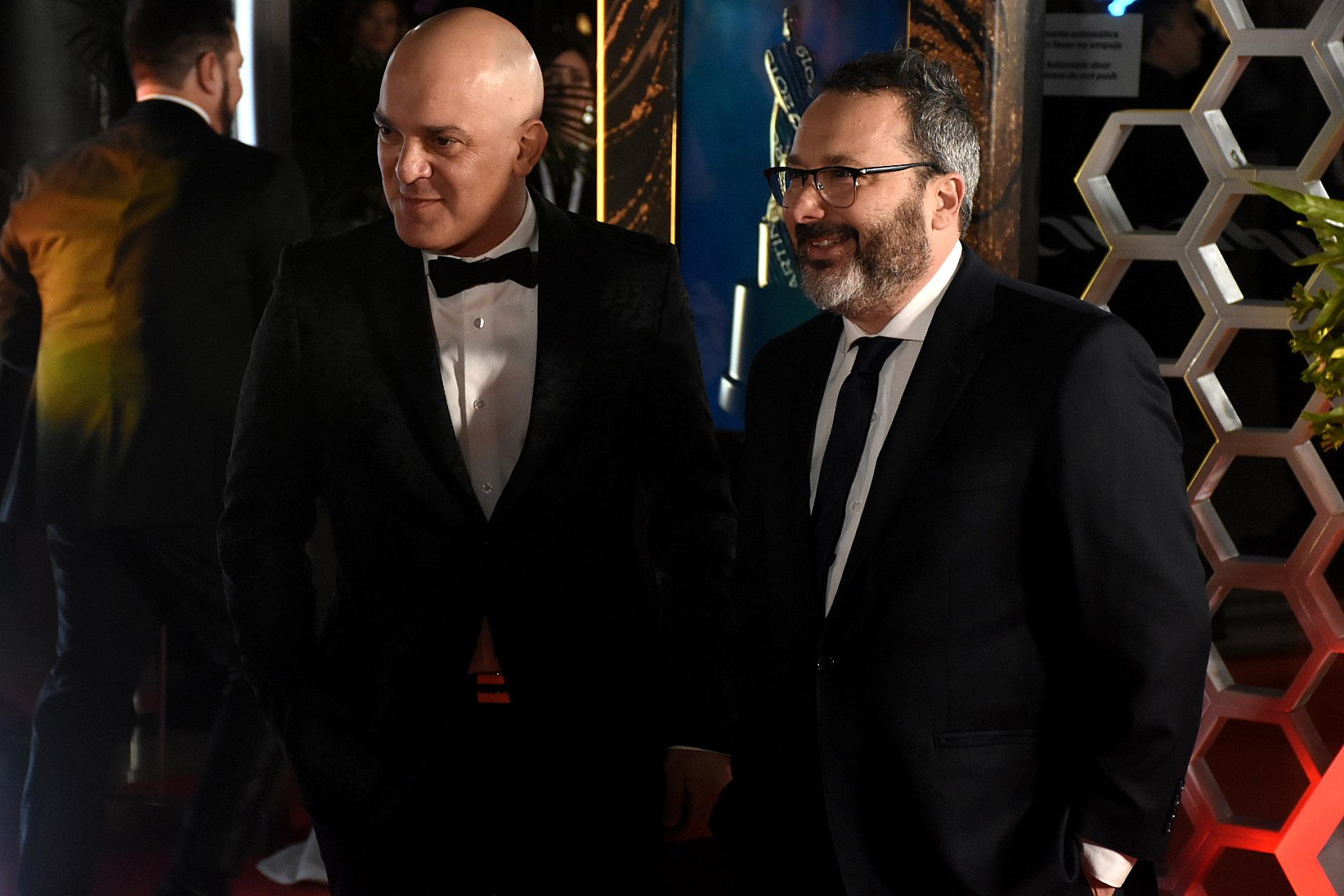 Santiago Giorgini y Gerardo Rozin, quienes se llevaron el Martín Fierro como Mejor Programa Musical por La Peña de Morfi