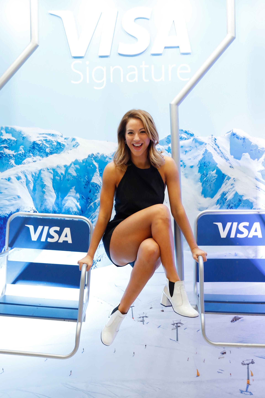 Flor Vigna en el evento de Visa Signature en el hotel Alvear