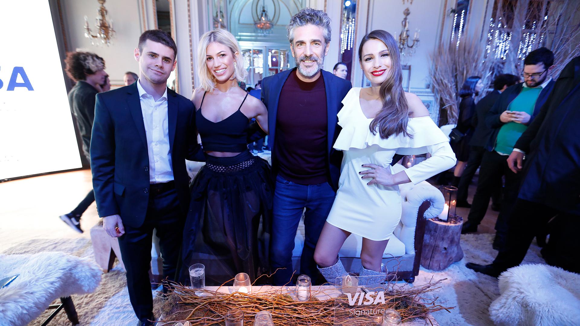 Gastón Soffritti, Stefania Roitman, Leo Sbaraglia y Pampita, presentes en el evento de Visa Signature organizado en el Hotel Alvear