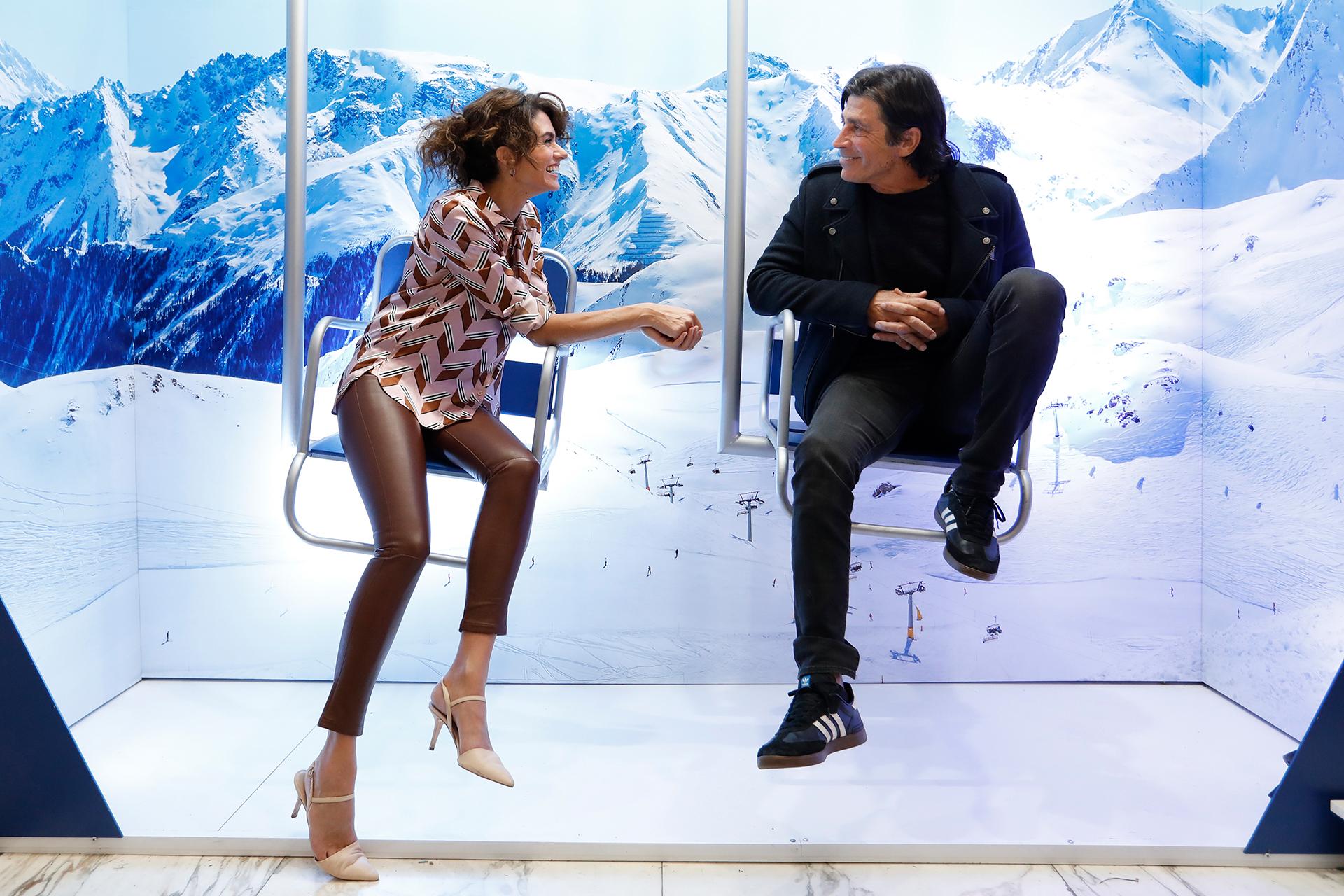 Florencia Raggi y Nicolás Repetto en el lanzamiento de la temporada de nieve de Visa Signature