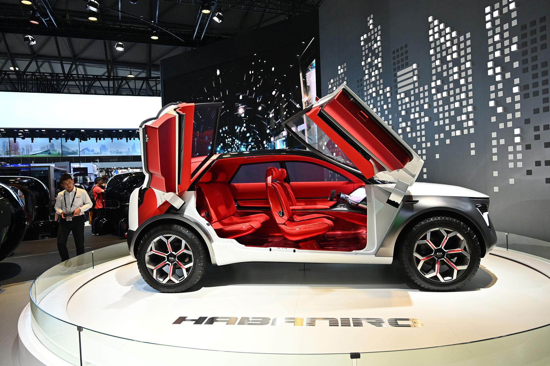 Un nuevo coche Kia durante el Consumer Electronics Show(AFP)