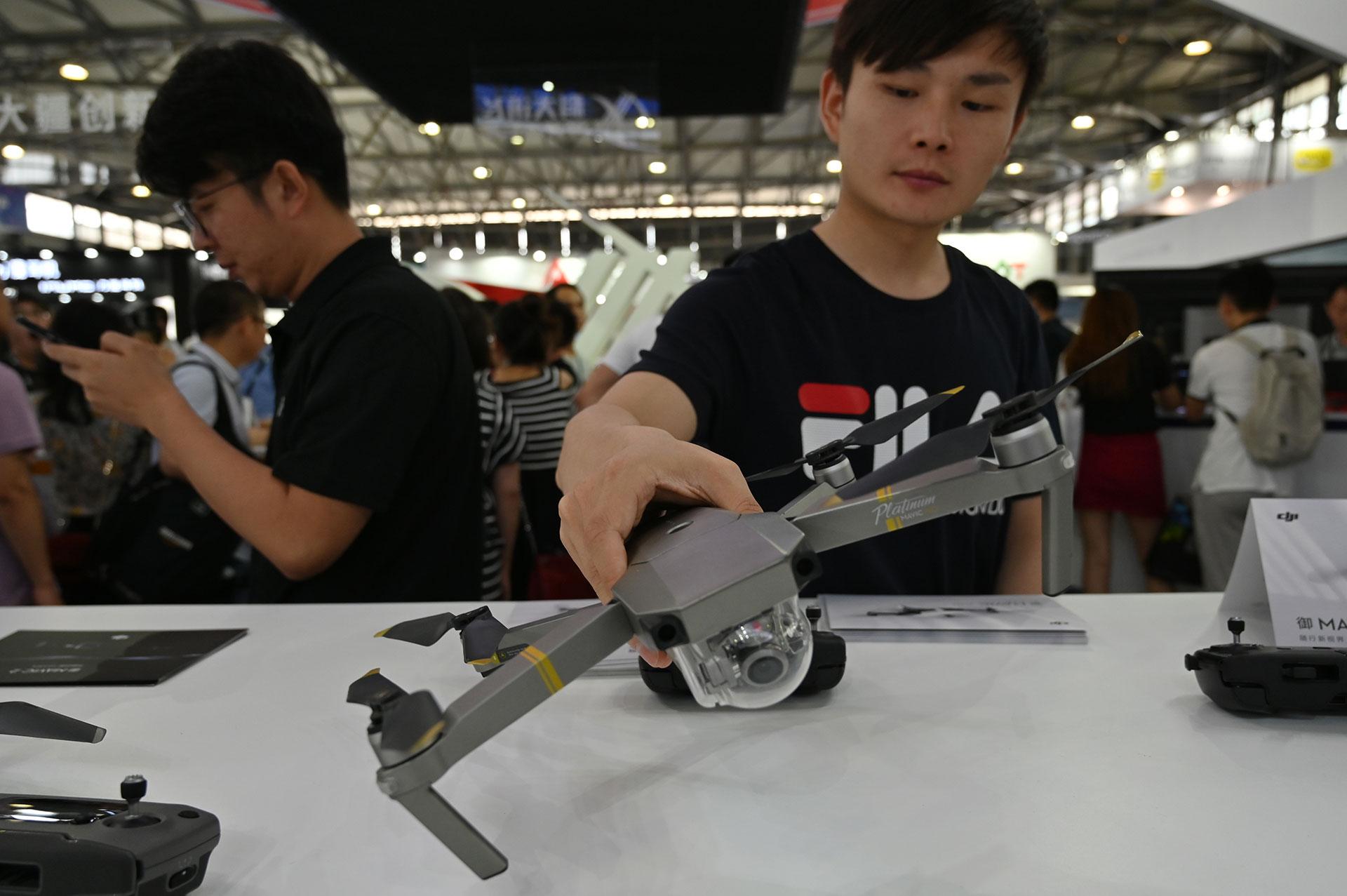 Un drone DJI en CES Asia 2019. (AFP)