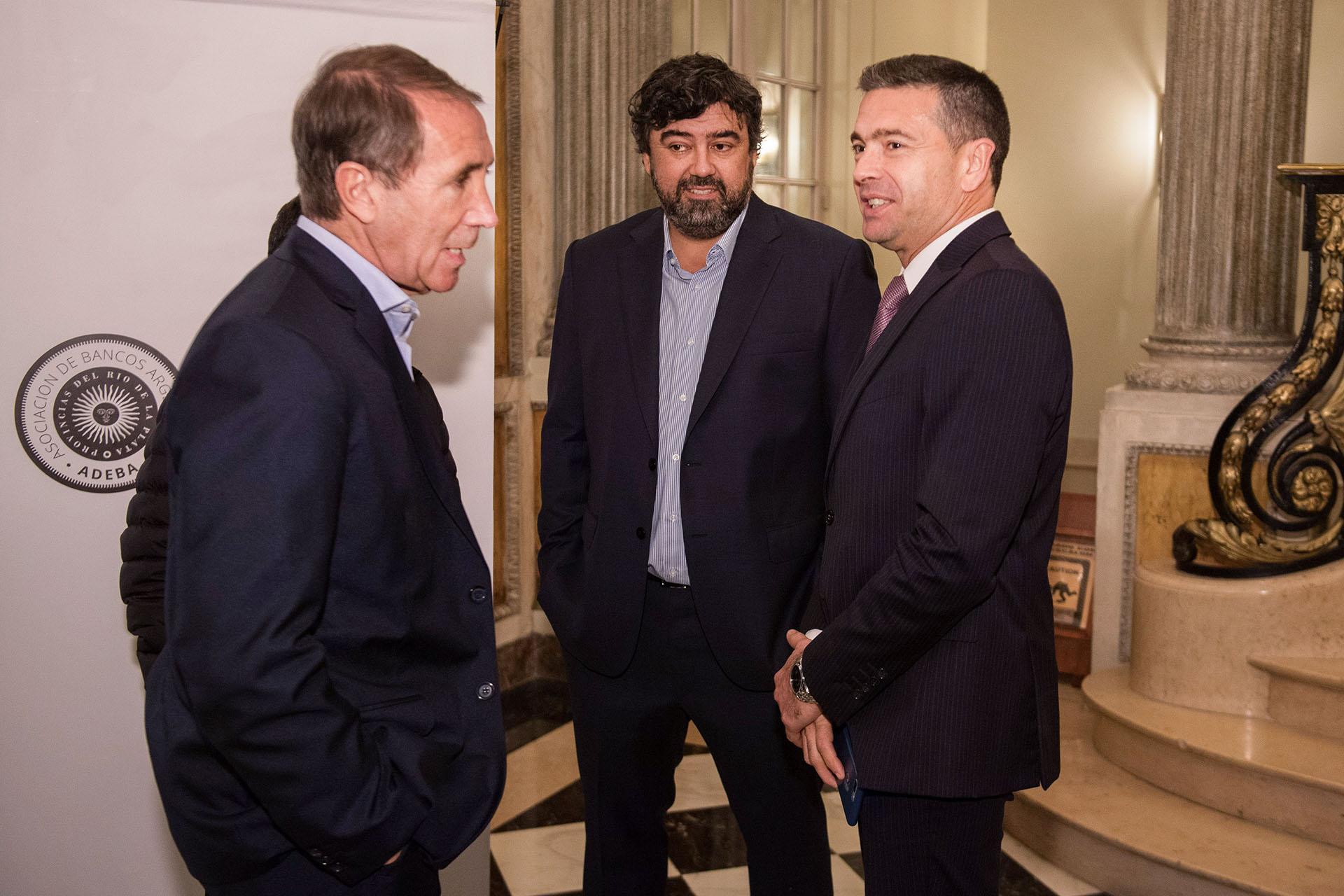 Carlos Arbía, Juan Cruz Ávila y Pablo Rossi