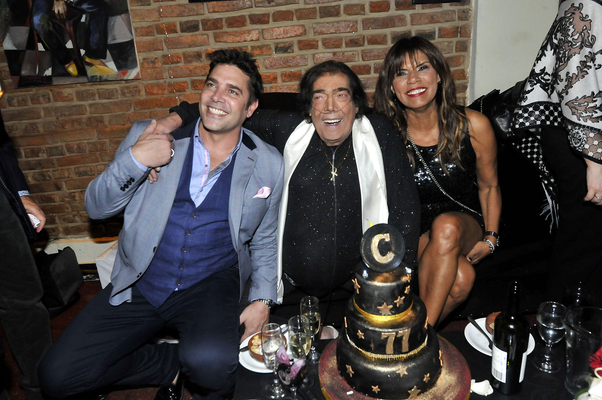 Matías Alé, Cacho Castaña y Anamá Ferreira (Vero Guerman / Teleshow)