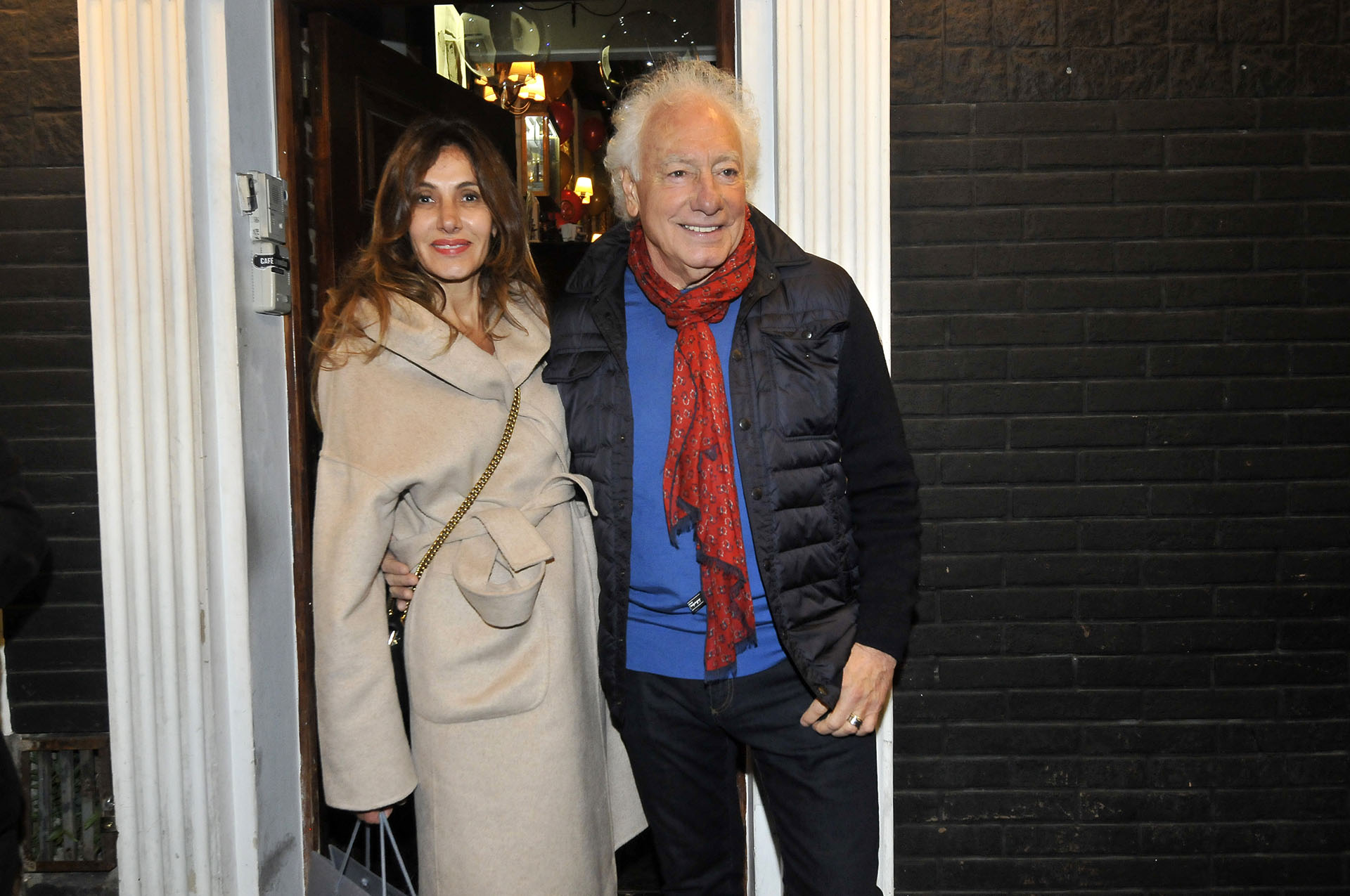 Guillermo Coppola y su pareja Corina