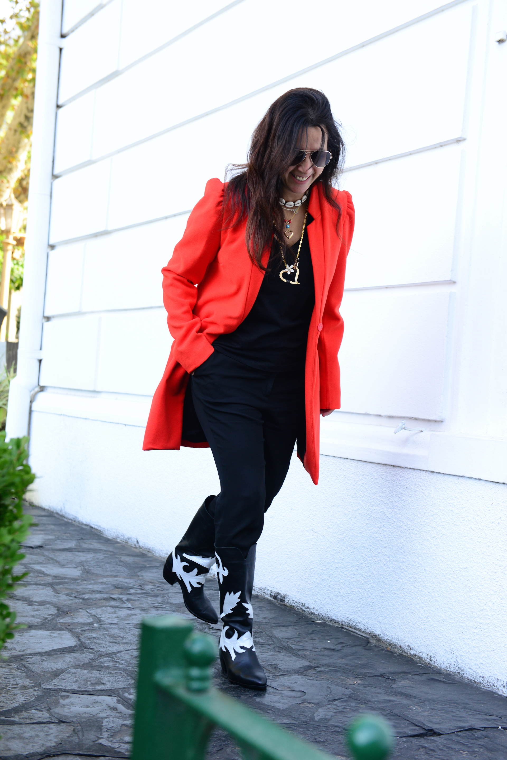 Marité Rizzo con botas texanas de Le Loup. Foto: Ale Carra/ParaTi