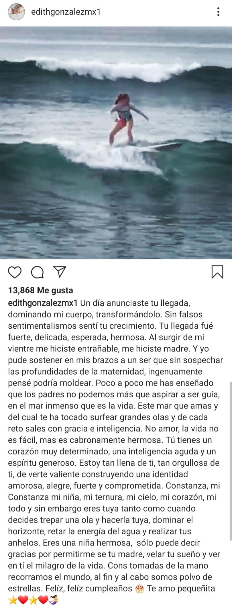 Edith González tuvo fuerzas suficientes para sobrevivir (Foto: Instagram)