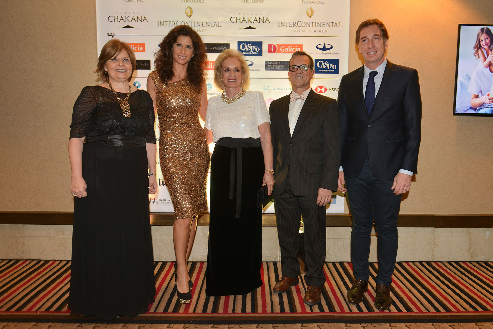 La ministra de Salud porteña, Ana María Bou Pérez; Analía Maiorana, Miriam Bagó; el director del Hospital Fernández, Ignacio Previgliano; y Diego Santilli.