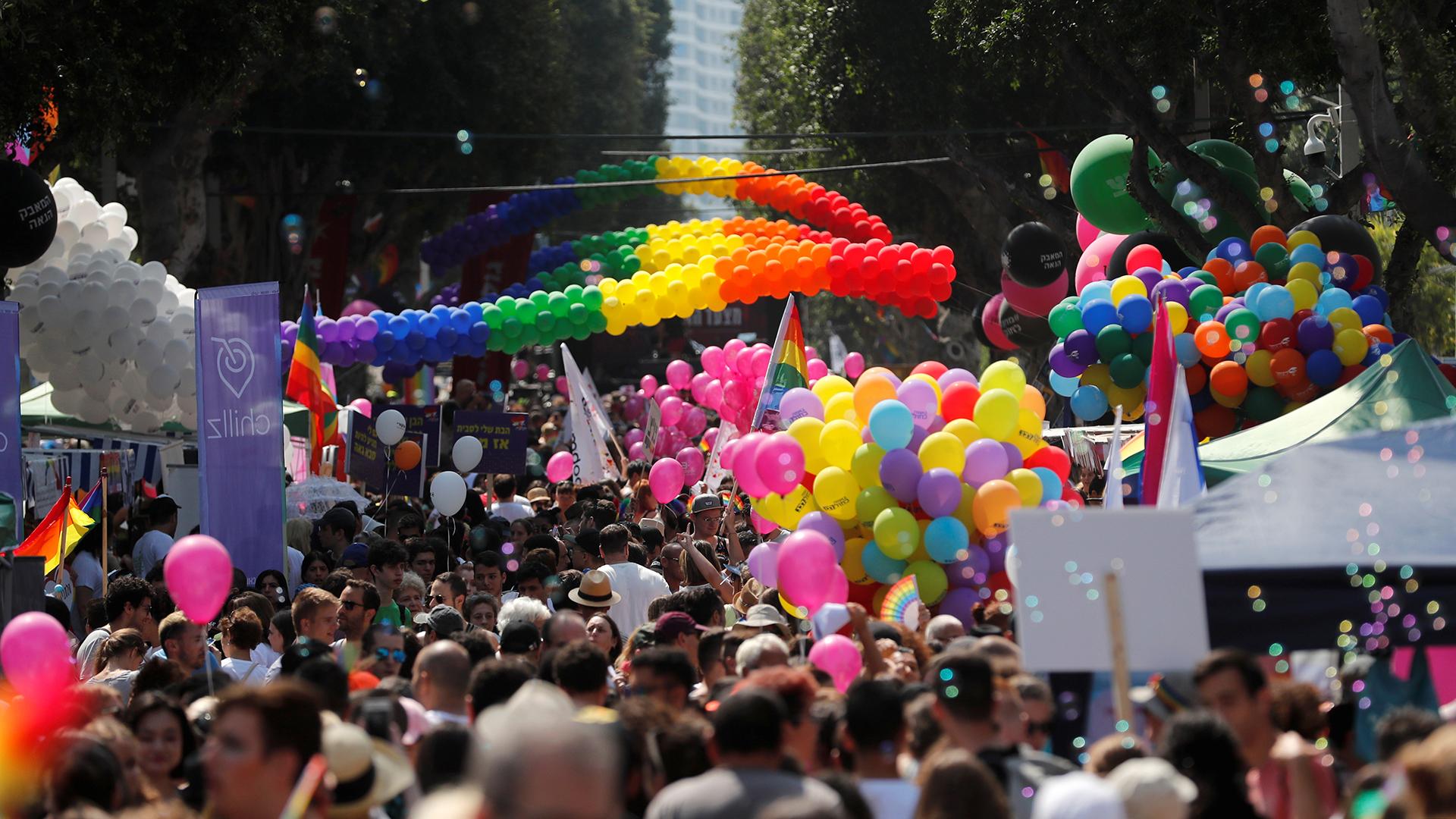 El desfile anual del orgullo gay en Tel Aviv, Israel, el 14 de junio de 2019.
