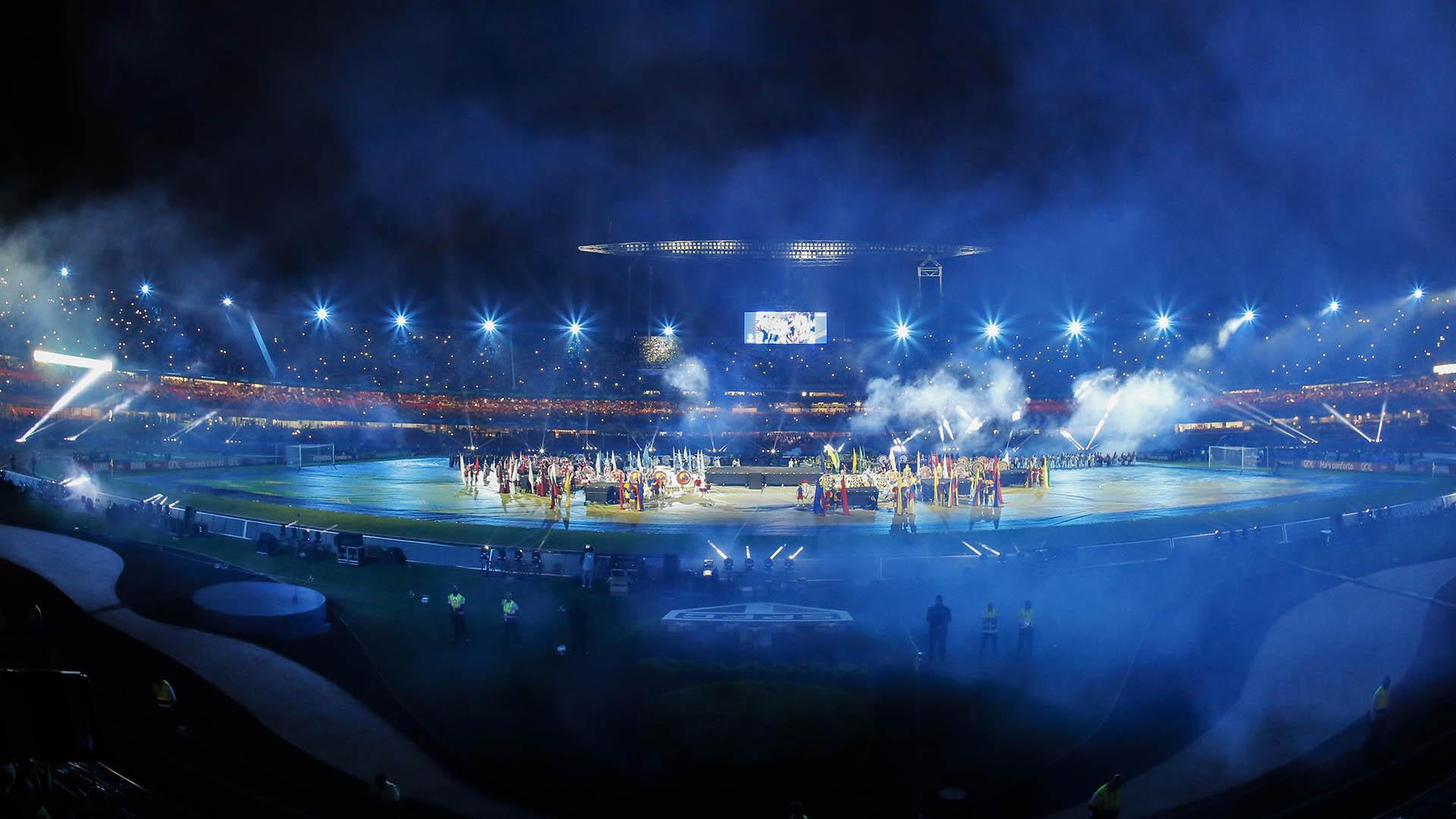 El espectáculo se llevó a cabo minutos antes de Brasil vs. Bolivia