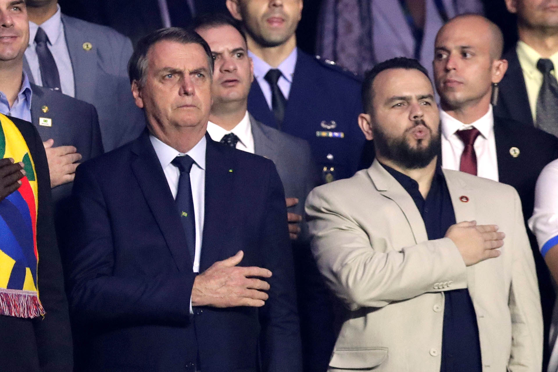 El presidente de Brasil Jair Bolsonaro estuvo en la fiesta