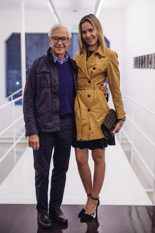 Eduardo Costantini y Elina Fernandez Fantacci en la inauguracion de la exposicion de Magdalena Jitrik en waldengallery