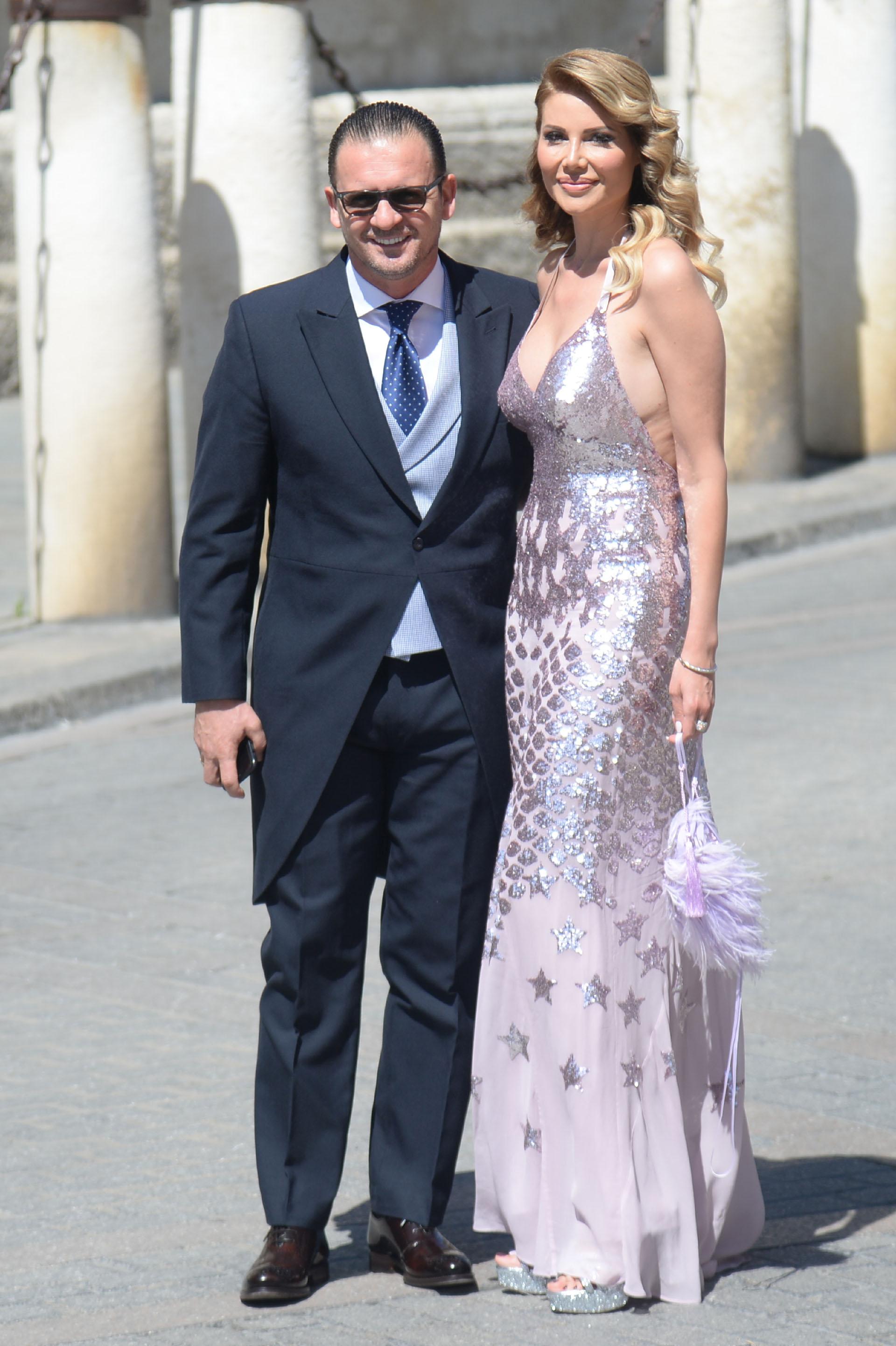 El ex futbolista del Real Madrid Pedja Mijatovicy Aneta Milicevic