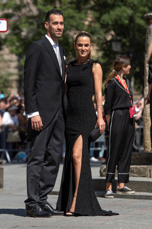 El futbolista Sergio Busquets y su esposa Ana Galera