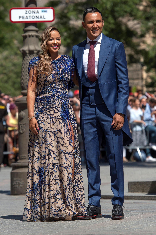 El costarricenseKeylor Navas y su esposa Andrea Salas