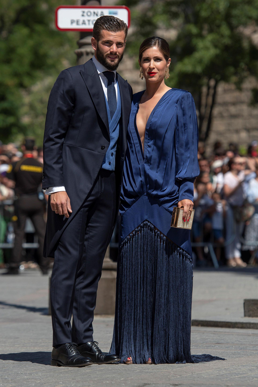 El futbolista Nacho Fernández y su novia María Cortes