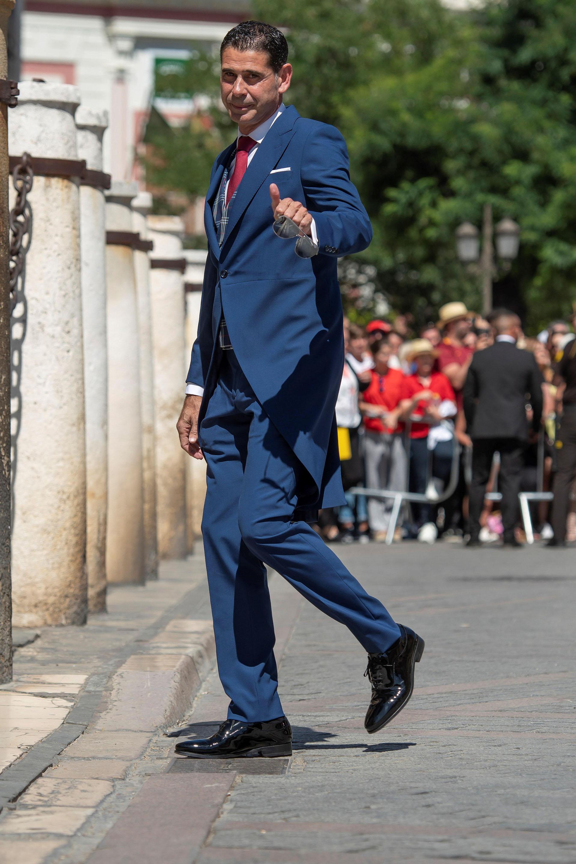 El histórico capitán de la selección española Fernando Hierro también estuvo presente