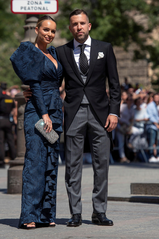 El defensor del BarcelonaJordi Alba y su pareja