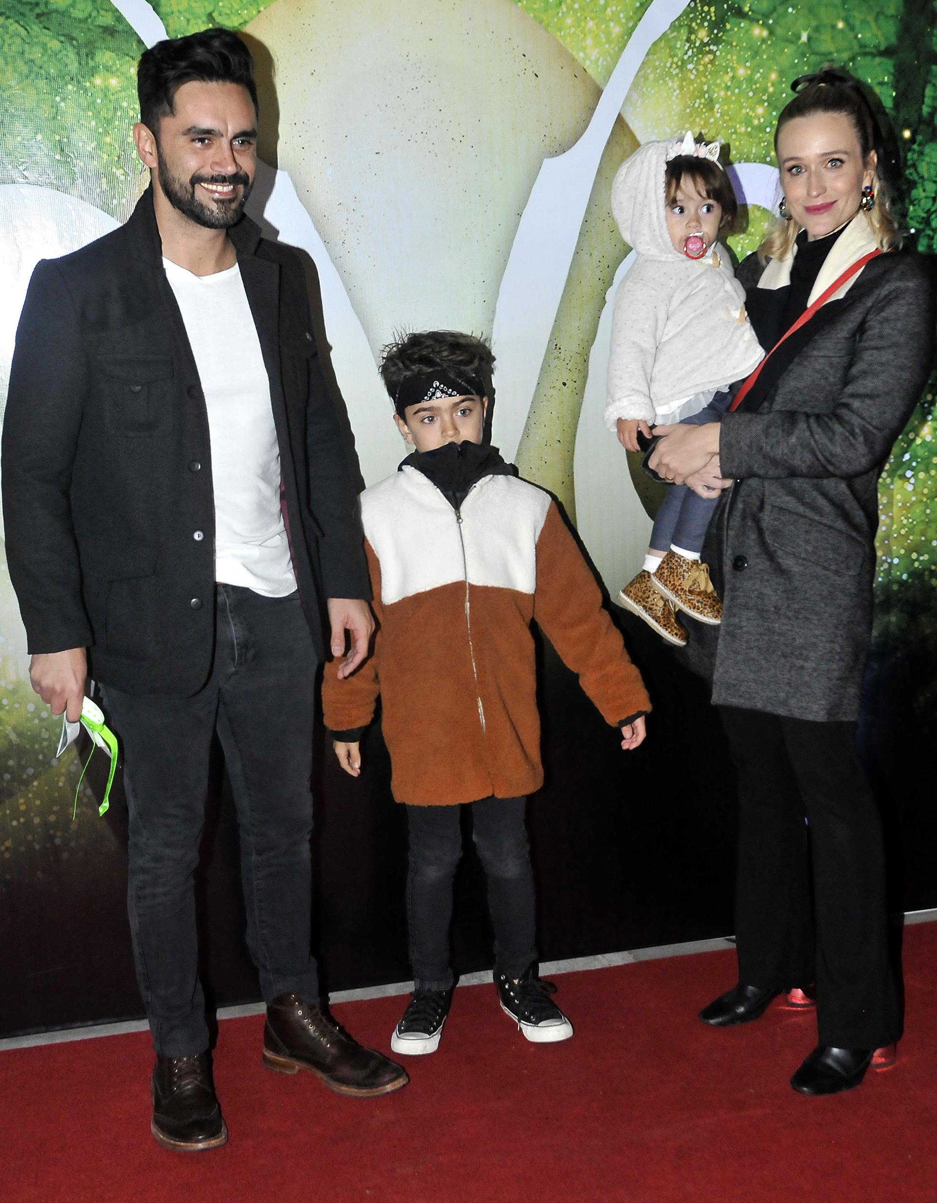 Gonzalo Heredia, Brenda Gandini y sus hijos, Eloy y Alfonsina