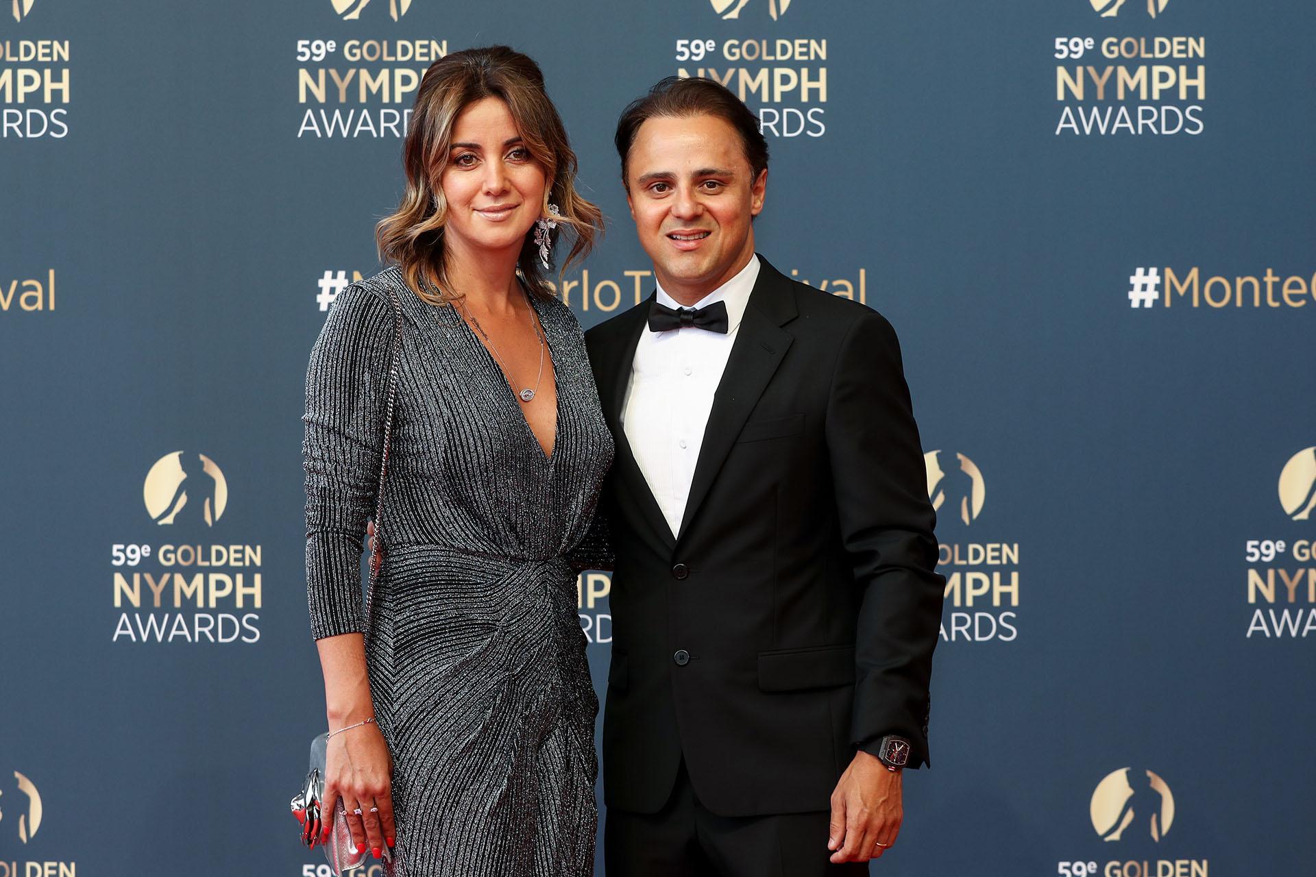Felipe Massa y su mujer Anna Rafaela