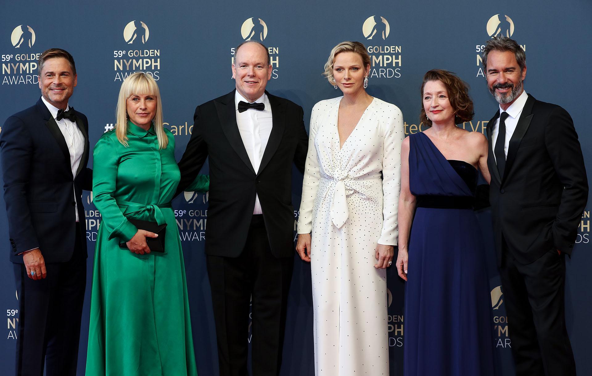 Rob Lowe, Patricia Arquette, Alberto de Mónaco y su mujer Charlene, Lesley Manville y Eric McCormack