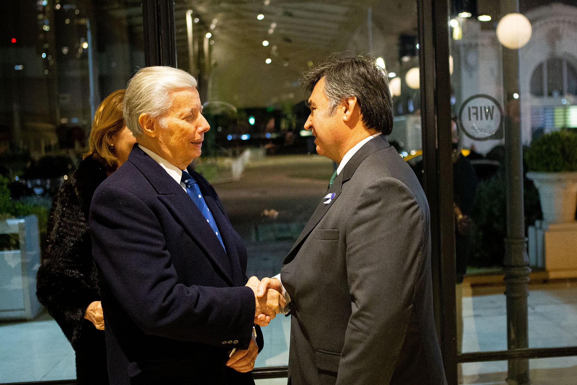 José Manuel Rodríguez Blanco, encargado de Negocios de la Orden Soberana de Malta; y Daniel Pelegrina
