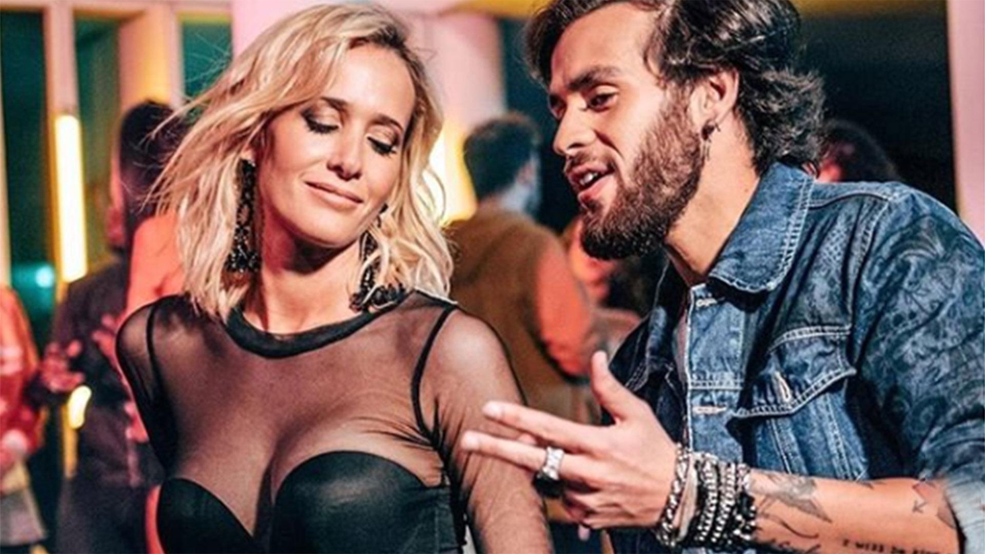 Somos novios: Julieta Prandi con Matías Zanuzzi, a quien acaba de presentar como su pareja. Es músico y tiene 21 años, 17 menos que ella (Foto: Instagram)